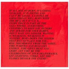 "Burn, ""Inflammatory Essay"" (from Documenta 1982)"