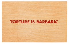 Torture Is Barbaric -- Print, Postcards, Text Art, Truisms by Jenny Holzer