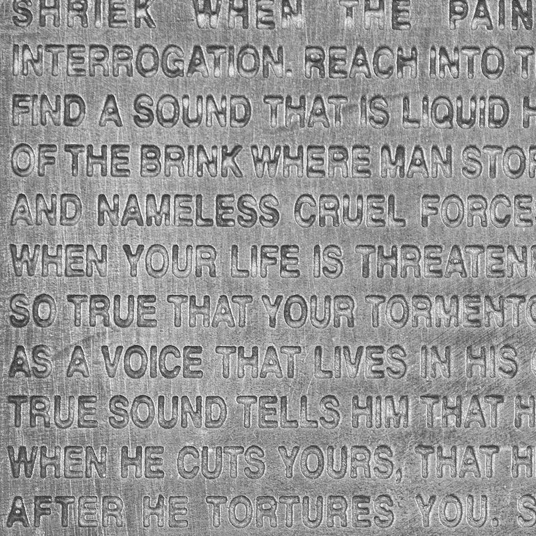 Inflammatory Essays -- Sculpture, Pewter, Text Art by Jenny Holzer For Sale 3