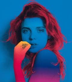 True Blue Silkscreen by Jenny Morgan from 2015, Artist Proof 10/10