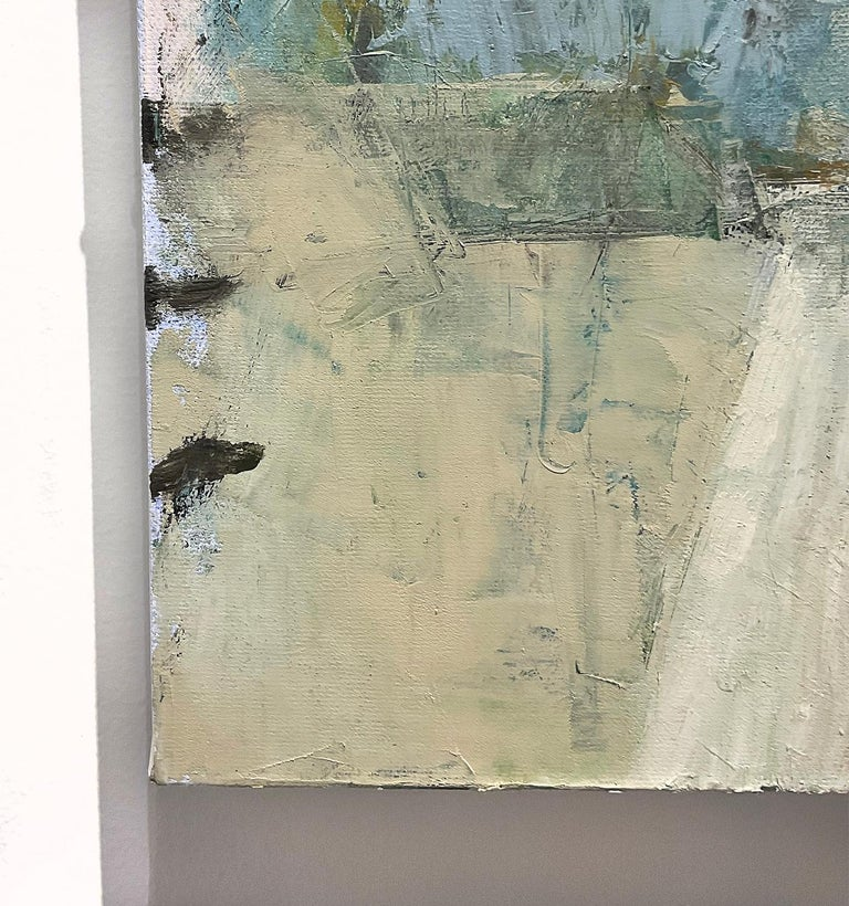 This Place 6 (Blue, Green and Grey Abstract Expressionist Painting on Canvas)  For Sale 1
