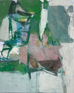 What Do I Know of This Place 3 (Vertical Abstract Expressionist Oil on Canvas)