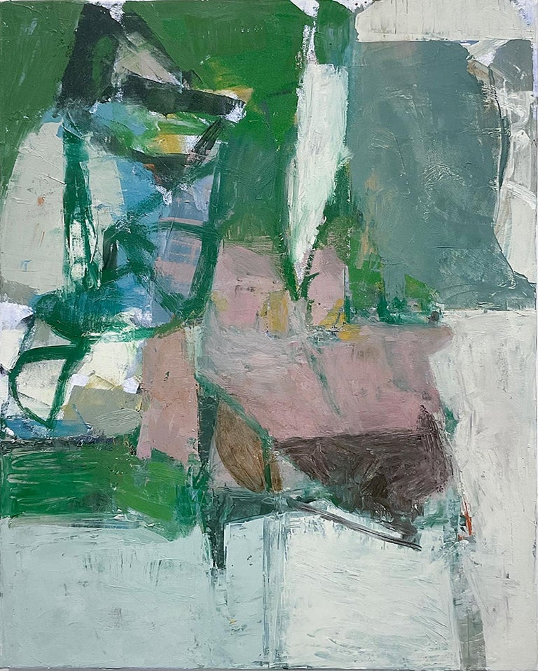 What Do I Know of This Place 3 (Vertical Abstract Expressionist Oil on Canvas)  - Painting by Jenny Nelson