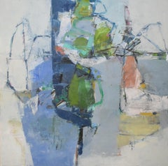 You And Me Swimming by Woodstock Artist Jenny Nelson (Contemporary Abstract Oil)