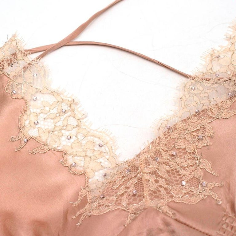 Jenny Packham Silk Pink Slip Gown US 8 For Sale at 1stdibs