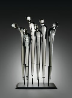"""Untitled, Homage Series, Six Figures"", Blown, Sculpted, and Polished Glass"