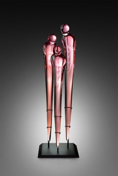 """Untitled, Homage Series, Three Figures"", Blown, Sculpted, and Polished Glass"