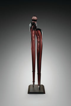 """Untitled, Homage Series, Two Figures"", Blown, Sculpted, and Polished Glass"