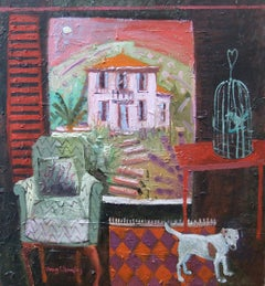 Colourful Contemporary Modern Interior Painting 'Caught Out' by Jenny Wheatley