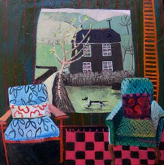 Contemporary Cornish Painting 'Farmhouse' by Jenny Wheatley