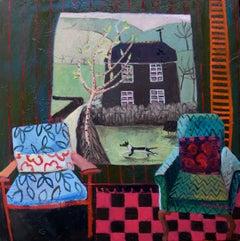 Contemporary Cornish Painting 'Farmhouse' by Jenny Wheatley