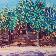 Contemporary Landscape Painting 'Orange Grove' by Jenny Wheatley