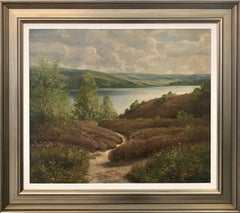 Original Painting of Sweden Norway Fjord Landscape by Danish Landscape Artist