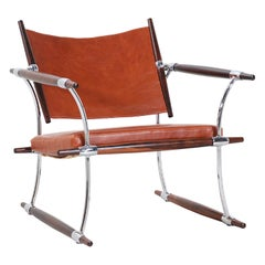 "Jens H. Quistgaard ""Stokke"" Rosewood Lounge Chair for Nissen"