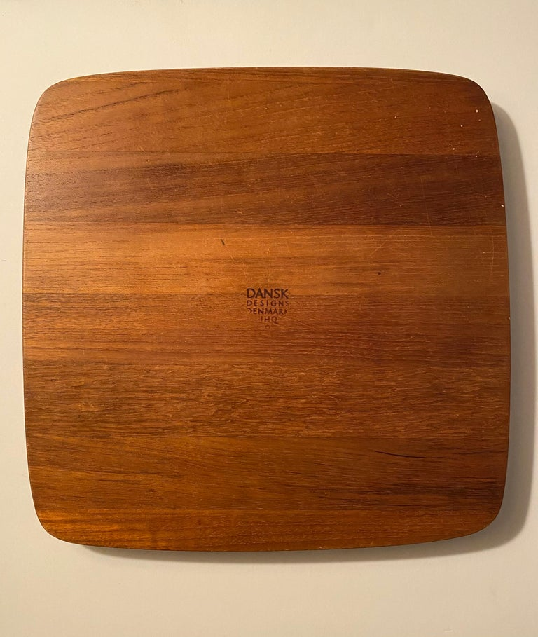 Jens H. Quistgaard Teak Serving Tray by Dansk In Good Condition For Sale In New York, NY