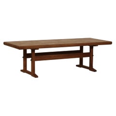 Jens Harald Quistgaard IHQ Solid Oak Coffee Table, Asur Tiles by Kronjyden 1960s