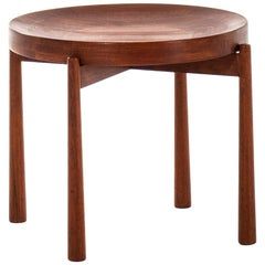 Jens Harald Quistgaard Side Table Produced by Nissen in Denmark