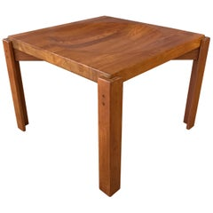Jens Quistgaard Attributed Solid Teak End Table w/Reversible Butcher Block Top