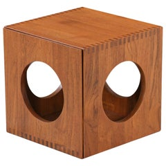 Jens Quistgaard Cube Teak Side Tables for Richard Nissen