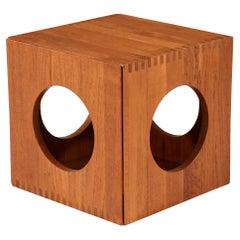 Jens Quistgaard Cube Teak Side Tables for Richard Nissen