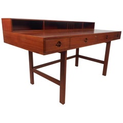 Jens Quistgaard Flip Top Danish Teak Desk
