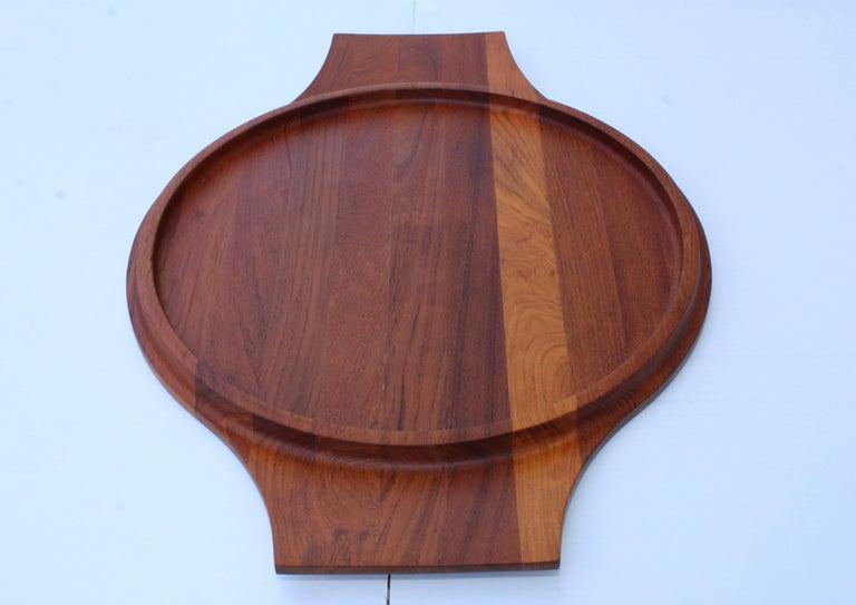 Mid-Century Modern Jens Quistgaard for Dansk Large Teak Tray For Sale