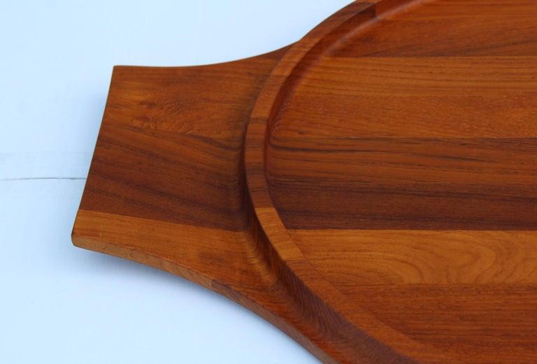20th Century Jens Quistgaard for Dansk Large Teak Tray For Sale
