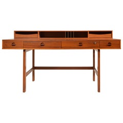 Jens Quistgaard for Løvig Teak Flip-Top Executive Desk, 1966