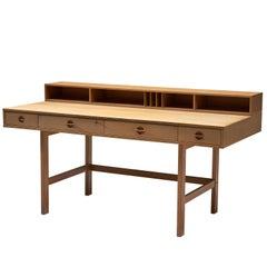 Jens Quistgaard Oak 'Flip-Top' Desk for Peter Løvig Nielsen