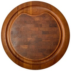 Jens Quistgaard Round Cutting Board or Serving Tray for Dansk