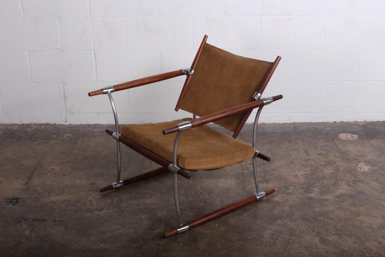 Jens Quistgaard 'Stokke' Lounge Chair In Good Condition For Sale In Dallas, TX