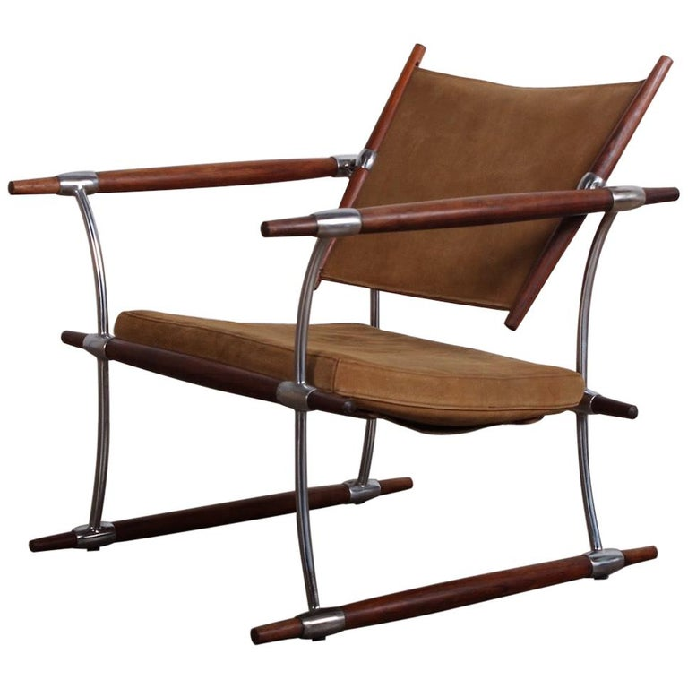 Jens Quistgaard 'Stokke' Lounge Chair For Sale