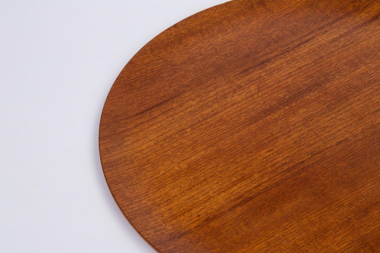 Jens Quistgaard Style Flat Teak Tray For Sale 1