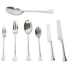 Jens Quistgaard Thistle Danish Modern Stainless Steel Flatware Dansk 62 Pieces