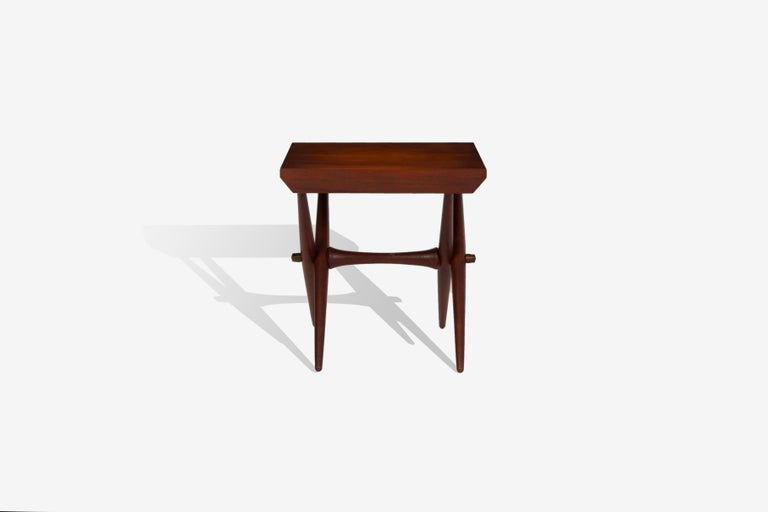 Mid-Century Modern Jens Quistgaard Trestle Base Occasional Table For Sale