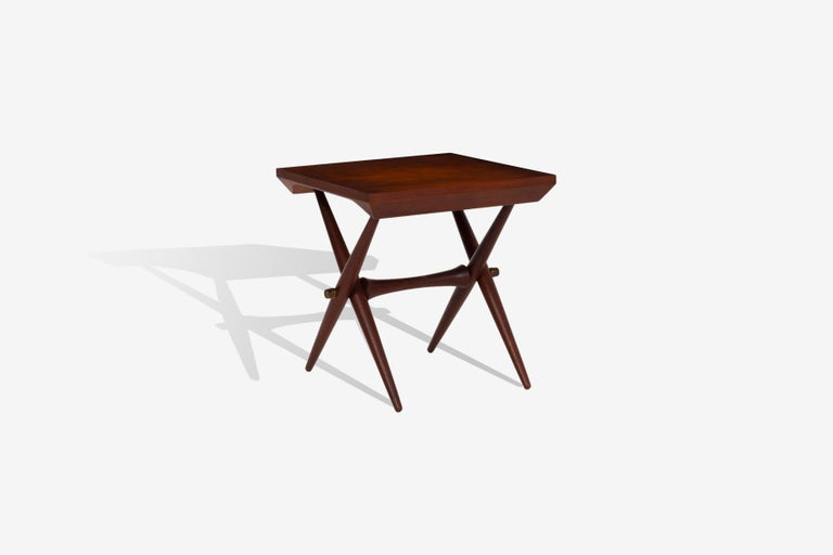 Danish Jens Quistgaard Trestle Base Occasional Table For Sale