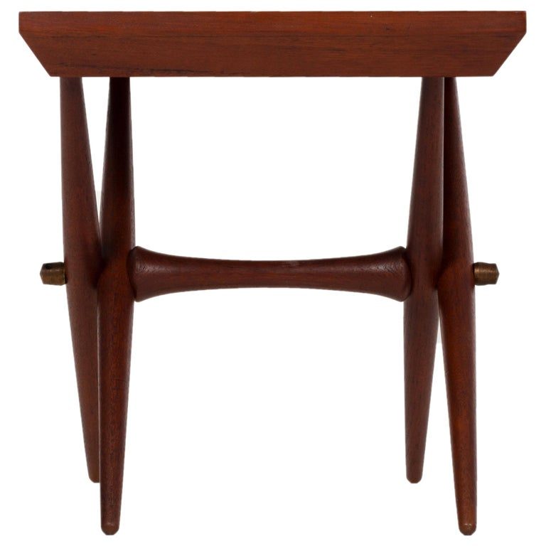 Jens Quistgaard Trestle Base Occasional Table For Sale