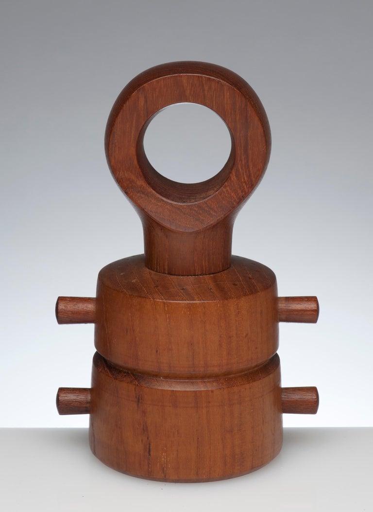 Sculptural pepper mill and salt Shaker by Jens Quistgaard for Dansk. Steel Peugeot grinder works perfectly. Condition is excellent.