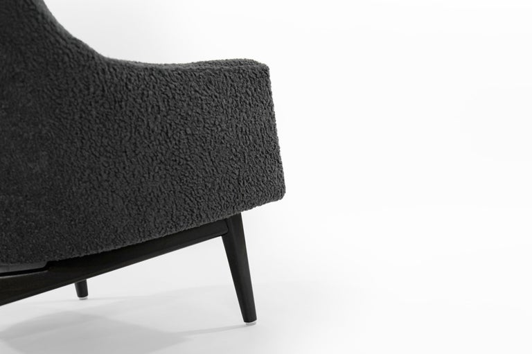 Jens Risom A-Line Lounge Chair and Ottoman in Bouclé, circa 1950s 7
