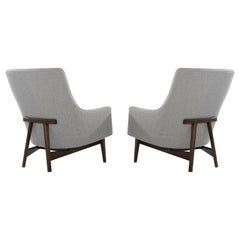 Jens Risom A-Line Lounge Chairs, Model #2136