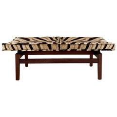 Jens Risom Bench in Zebra Hide