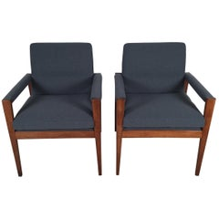 Jens Risom Chairs, a Pair