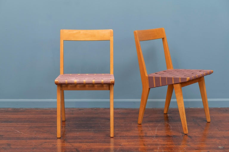 Jens Risom Chairs for Knoll Associates, N.Y. In Good Condition For Sale In San Francisco, CA