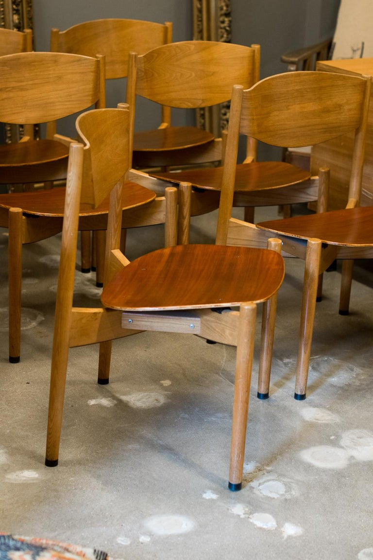 American Jens Risom Dining Chairs, Set of 6 For Sale