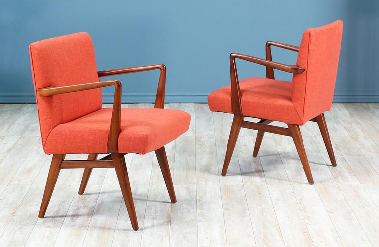 Mid-Century Modern Jens Risom Easy Chairs for Knoll For Sale