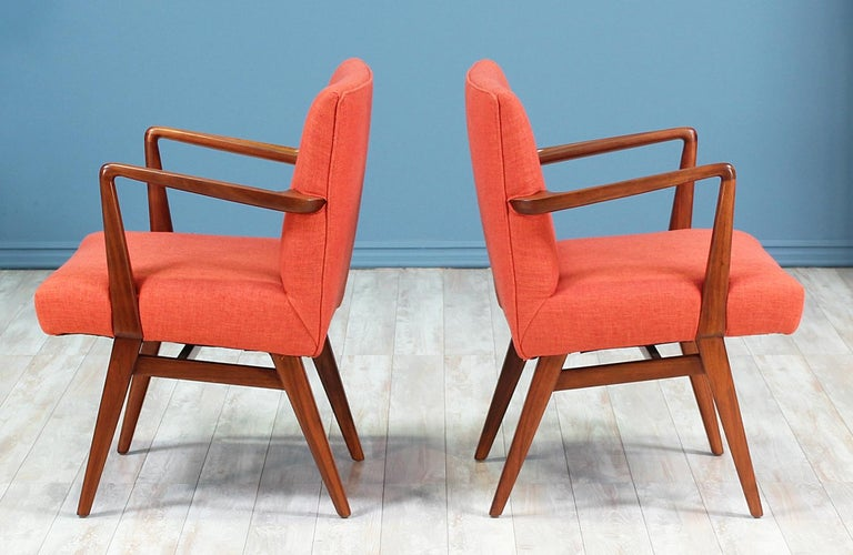 American Jens Risom Easy Chairs for Knoll For Sale