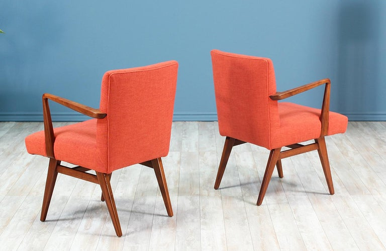 Mid-20th Century Jens Risom Easy Chairs for Knoll For Sale