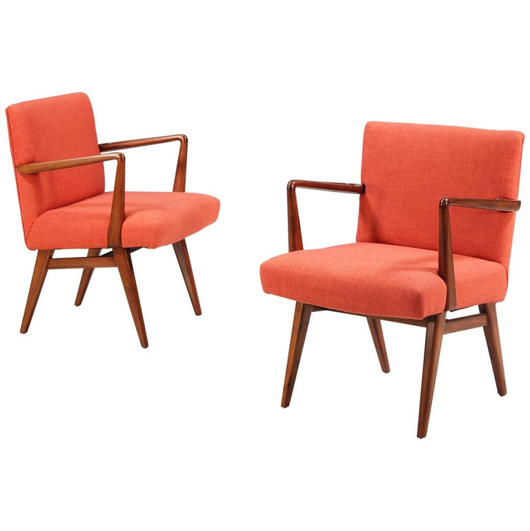 Jens Risom Easy Chairs for Knoll For Sale