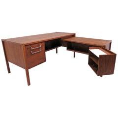 Jens Risom Executive Work Station Desk with Optional Return, circa 1960s