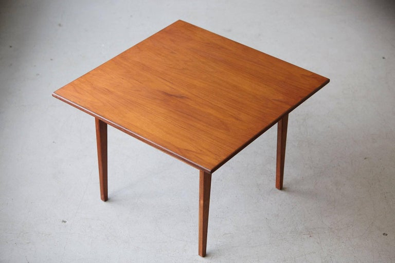 Mid-20th Century Jens Risom Floating Square Walnut Coffee Table For Sale